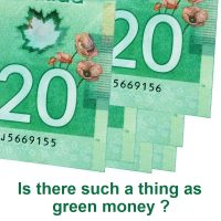 Is there such a thing as green money?