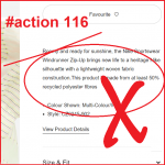 action 116