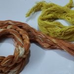 macrame cord dyed in natural colour