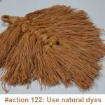 Natural dye: macrame leaf