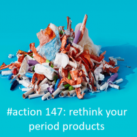 pile of period products